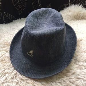 Kangol Fedora gray woven fabric